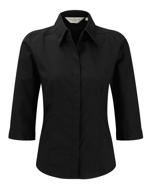 Chemise professionnelle manches 3/4 femme personnalisée (Russell Collection)